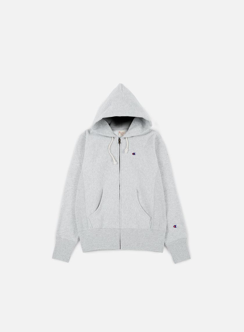 Champion - Reverse Weave Terry Zip Hoody, Heather Grey