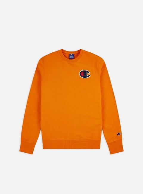 Sale Outlet Crewneck Sweatshirts Champion Satin C Logo Crewneck