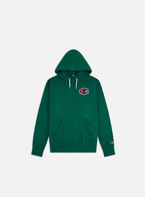 Sale Outlet Hooded Sweatshirts Champion Satin C logo Hoodie