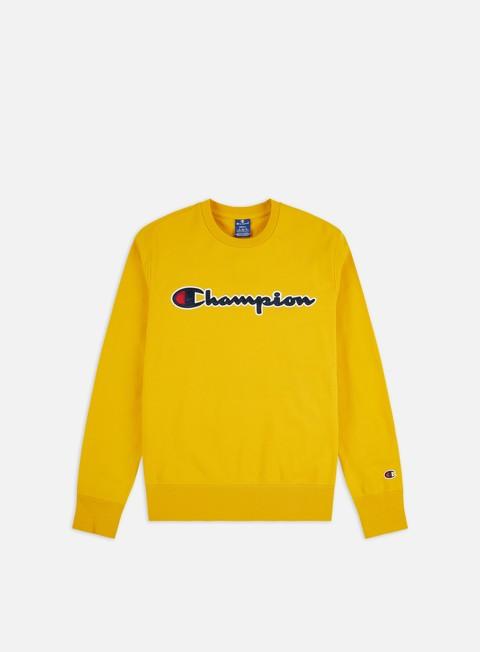 Crewneck Sweatshirts Champion Satin Script Logo Crewneck