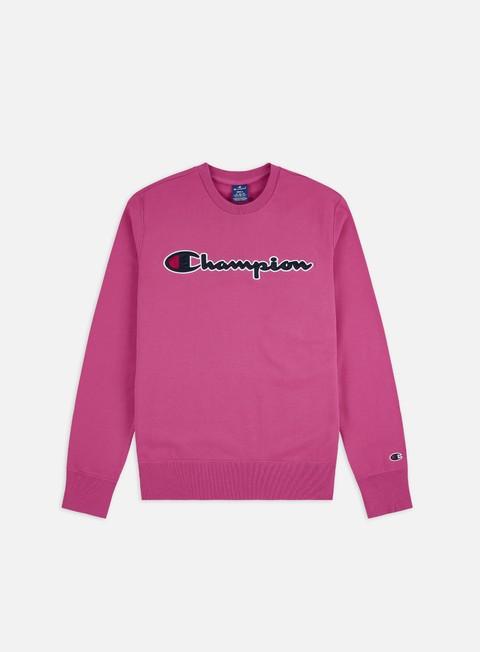 Logo Sweatshirts Champion Satin Script Logo Crewneck