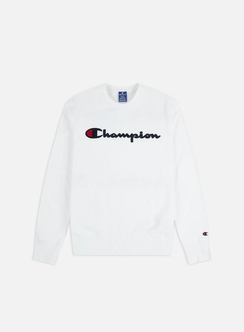 Champion Satin Script Logo Crewneck
