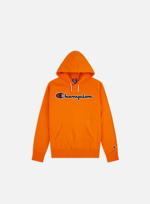 Hooded Sweatshirts Champion Satin Script Logo Hoodie