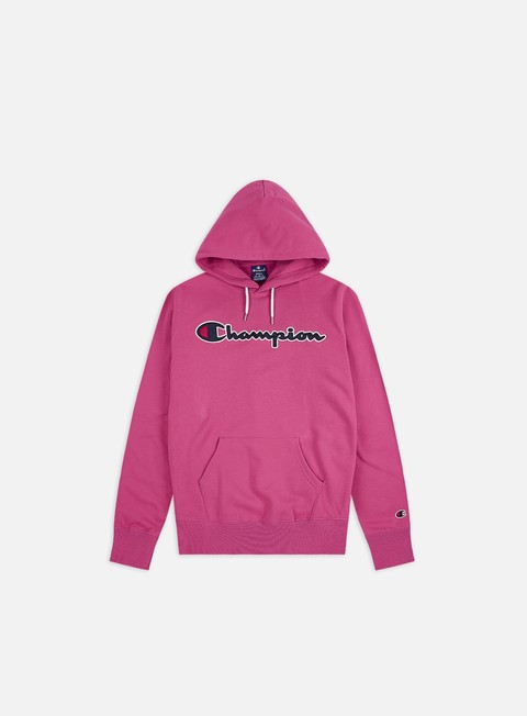 Logo Sweatshirts Champion Satin Script Logo Hoodie