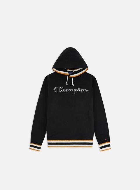 Felpe con Cappuccio Champion Script Logo Ribbed Hoodie