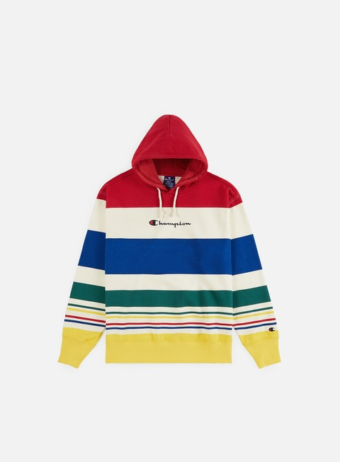 Champion Striped Logo Hoodie