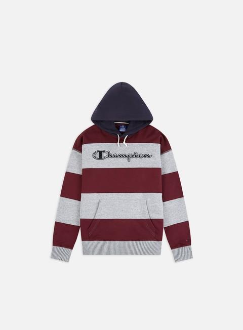 Felpe con Cappuccio Champion Striped Script Logo Hoodie