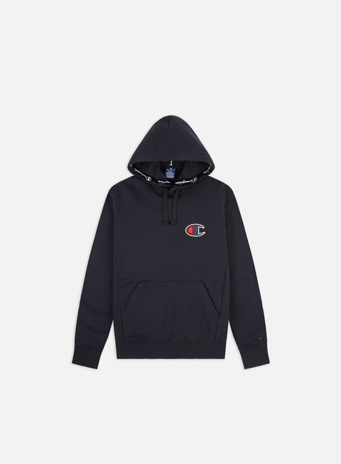 Hooded Sweatshirts Champion Taped Inserts C Logo Hoodie