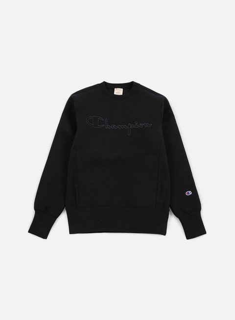 felpe champion tech weave crewneck black