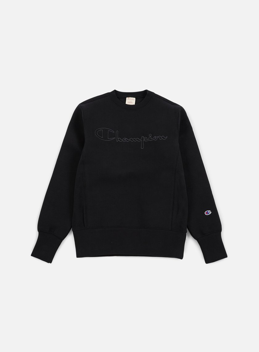 Champion - Tech Weave Crewneck, Black