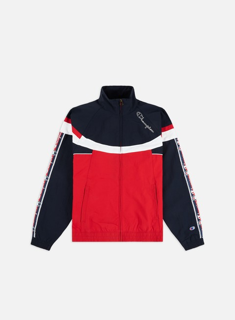 Outlet e Saldi Track Top Champion Tri Colour Design Full Zip Track Top