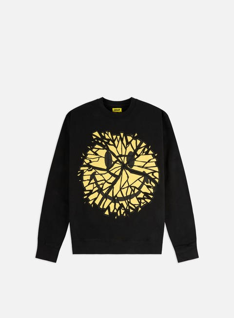 Crewneck Sweatshirts Chinatown Market Smiley Glass Crewneck