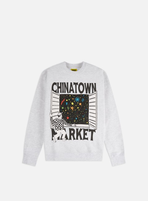 Crewneck Sweatshirts Chinatown Market Window Crewneck