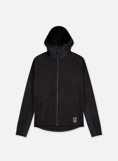 felpe chrome duramap zip hoodie black