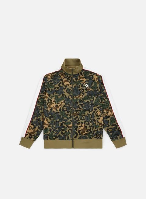 felpe converse camo track jacket dusky green