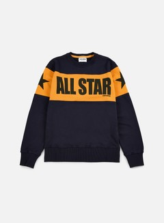 Converse - Chuck Taylor Color Block Crewneck, Navy Blue/Corn Yellow/Black 1