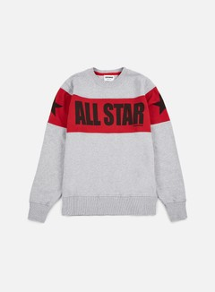 Converse - Chuck Taylor Color Block Crewneck, Very Melange/Red/Black 1