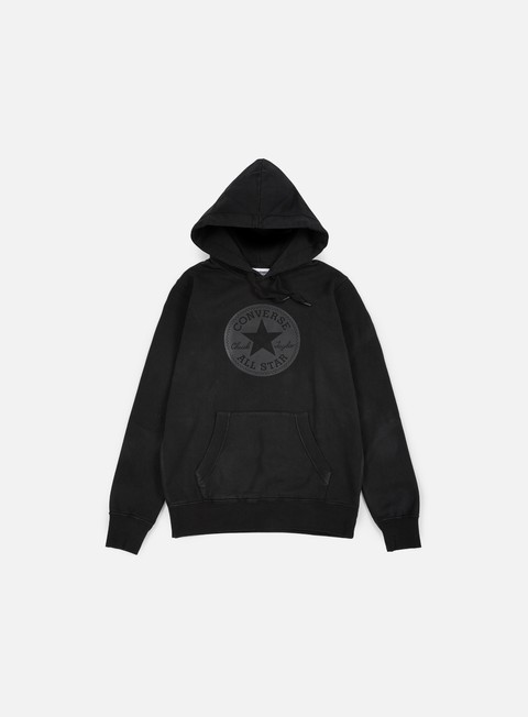 felpe converse chuck taylor rubber hoodie black