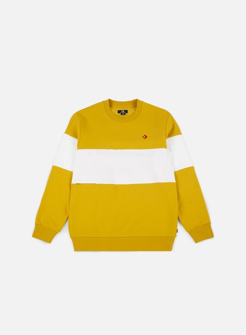 felpe converse cons crewneck mineral yellow white