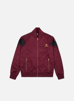 Converse - Luxe Star Chevron Track Jacket, Dark Burgundy