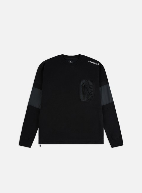 Converse Mixed Media Ripstop Crewneck