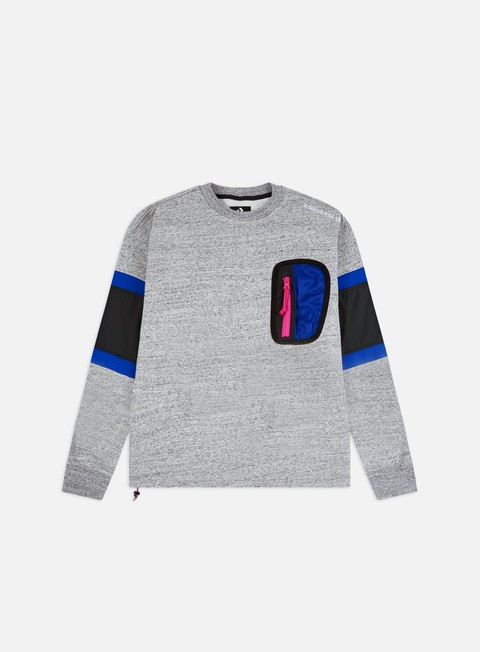 Felpe Girocollo Converse Mixed Media Ripstop Crewneck