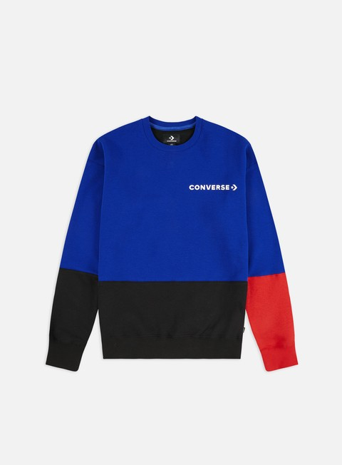 Outlet e Saldi Felpe Girocollo Converse One Star Block Pack Crewneck