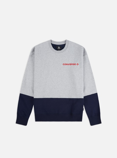 Felpe Girocollo Converse One Star Block Pack Crewneck