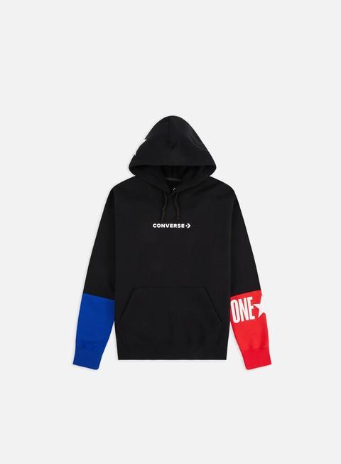 Hooded Sweatshirts Converse One Star Block Pack Pullover Hoodie