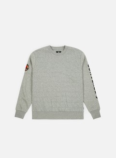 Converse - Quilted Utility Crewneck, Charcoal/Red