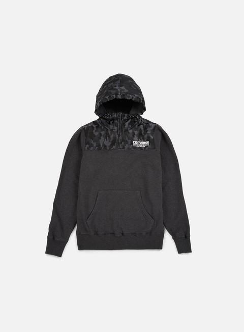 felpe converse s and c camo half zip hoodie iron melange smoke camo
