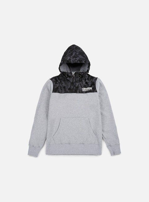 felpe converse s and c camo half zip hoodie very melange smoke camo