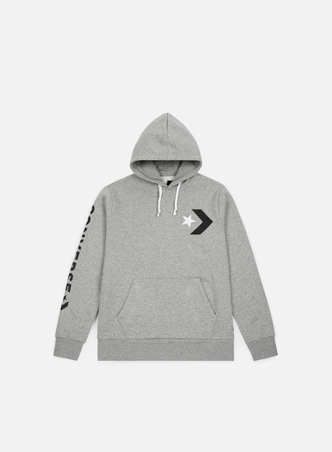 Hooded Sweatshirts Converse Star Chevron Graphic Pullover Hoodie