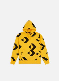 Converse - Star Chevron Print Pullover Hoodie, University Gold