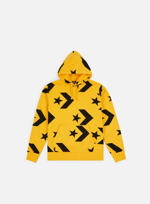 Hooded Sweatshirts Converse Star Chevron Print Pullover Hoodie