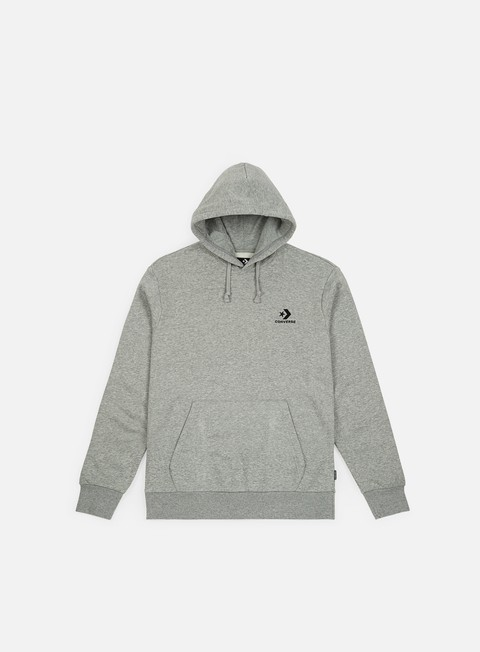 felpe converse star chevron pullover hoodie charcoal red