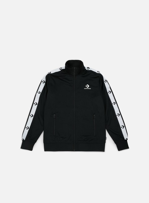 felpe converse star chevron track jacket black