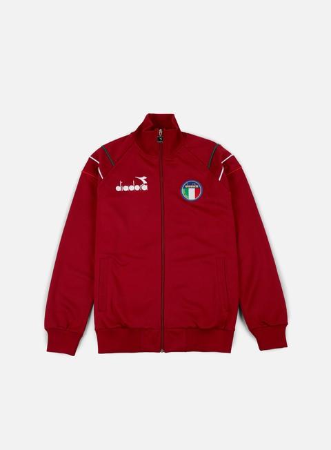 felpe diadora 80s ii jacket jester red
