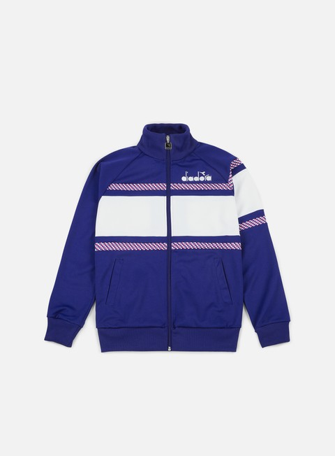 felpe diadora 80s jacket navy optical white