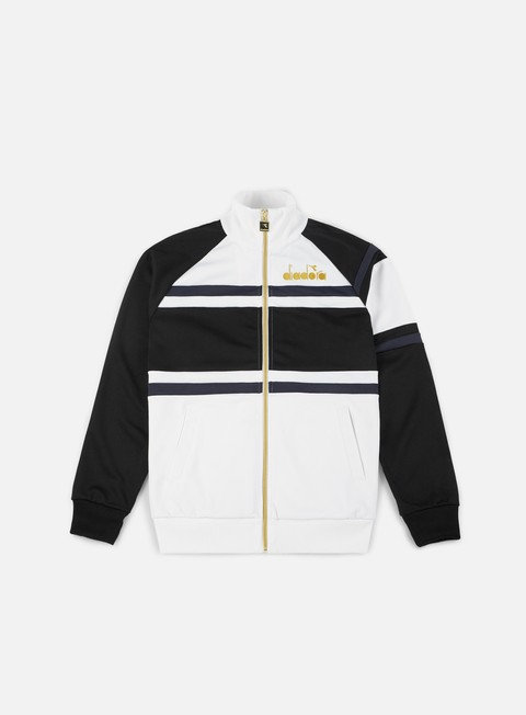 felpe diadora 80s jacket optical white black