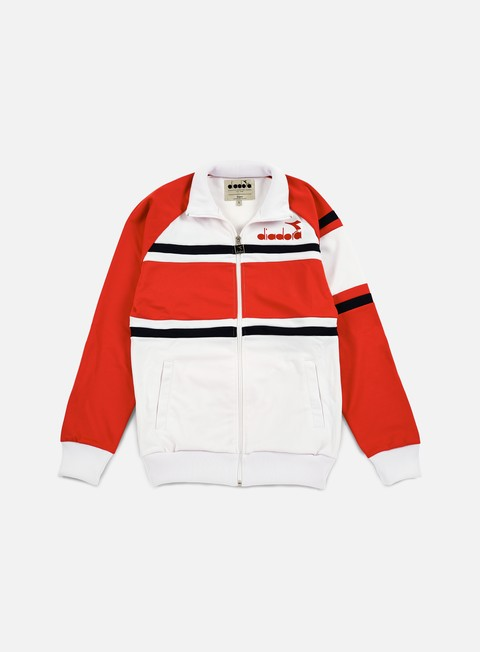 felpe diadora 80s jacket super white red