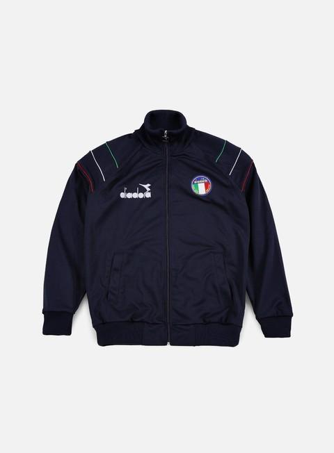 felpe diadora 90s ita jacket blue corsair