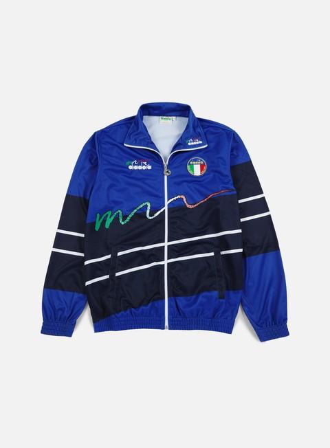 felpe diadora 90s ita jacket olympian blue