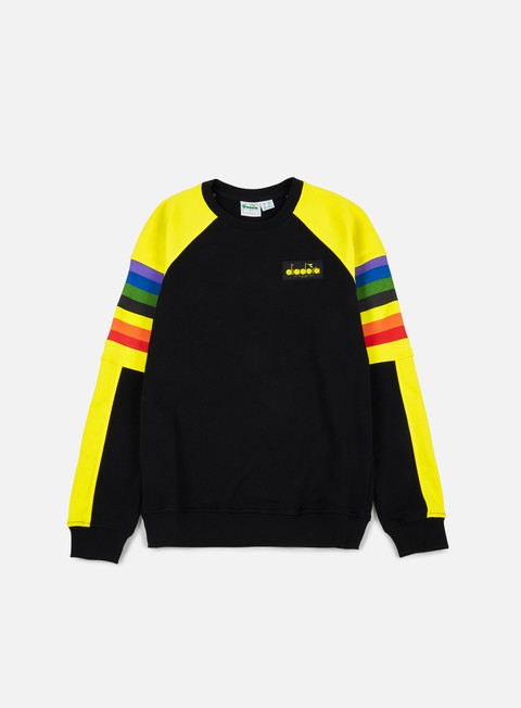 felpe diadora bj 88 crewneck sweatshirt black