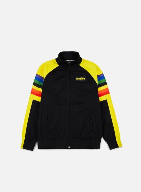 felpe diadora bj 88 track jacket black
