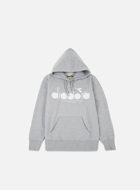 felpe diadora bl hooded sweatshirt light middle grey melange