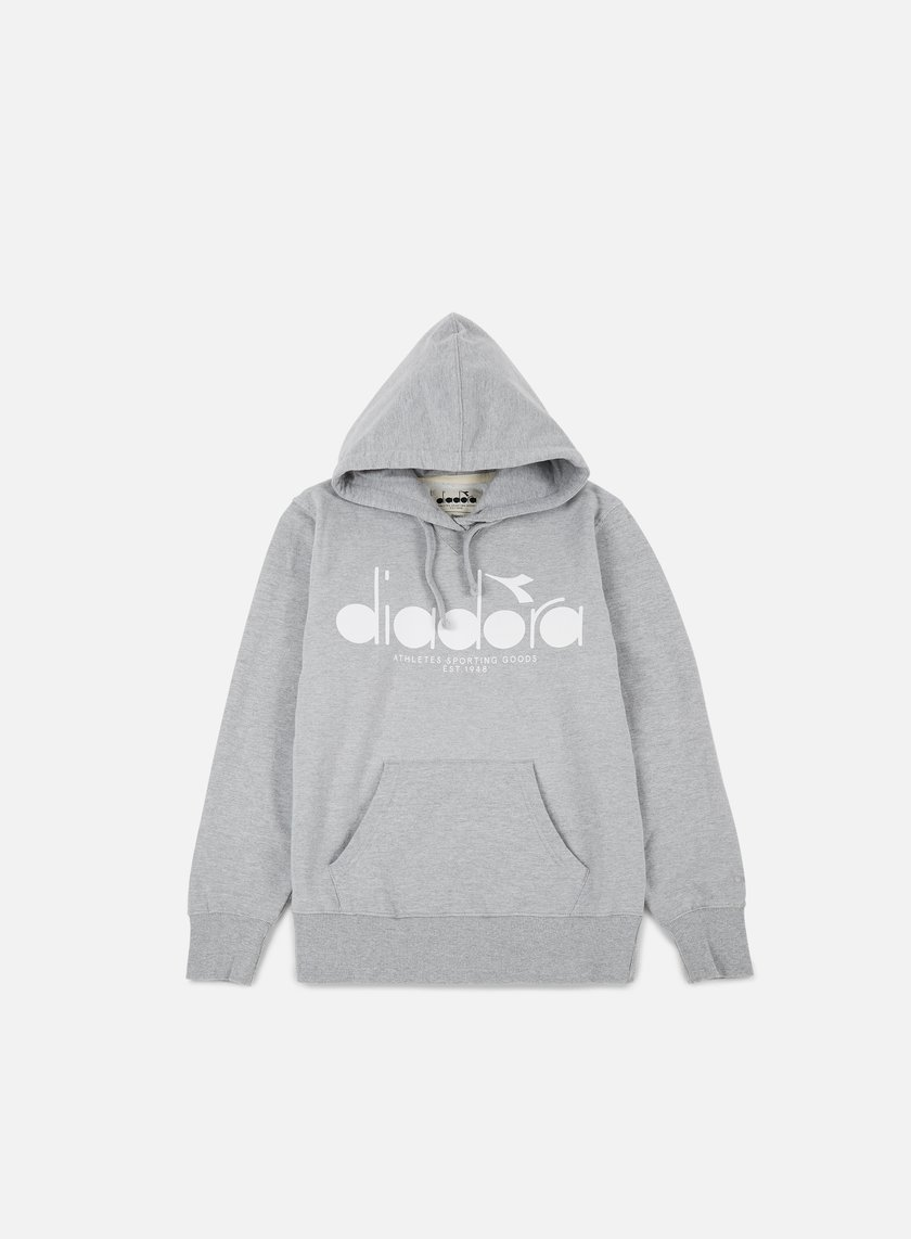 Diadora - BL Hooded Sweatshirt, Light Middle Grey Melange