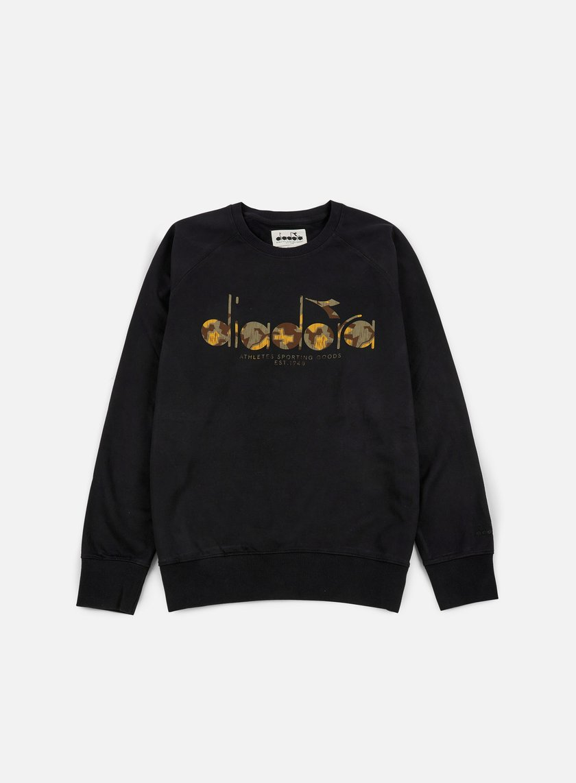 Uomo Abbigliamento Felpe Diadora Crewneck Sweat BL Sweater