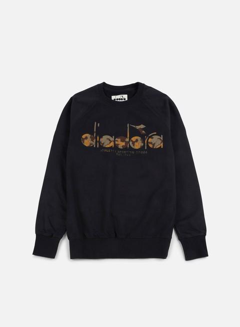 felpe diadora bl sweatshirt black camo old
