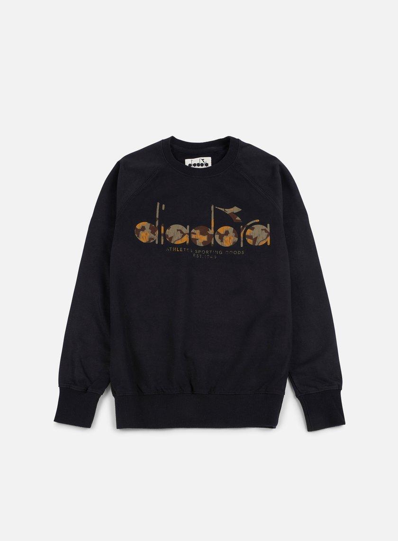 Diadora - BL Sweatshirt, Black/Camo OLD